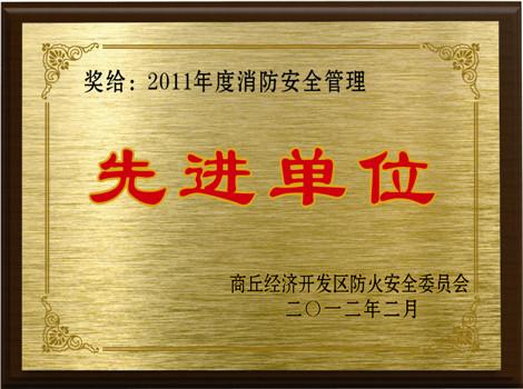 商丘(qiu)消防安全(quan)先進單位