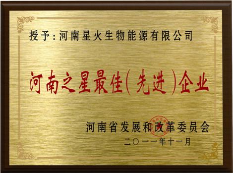 河(he)南之星(xing)最佳先進企(qi)業(ye)